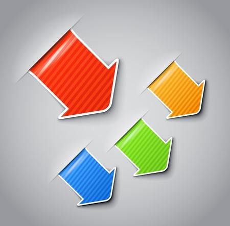 office products: Modelado etiquetas con boarder clip-art blanco. Usted puede colocar su contenido en ellos
