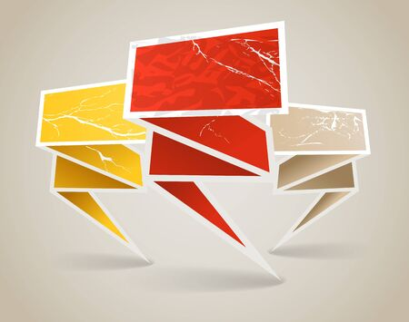 handmade shape: Colorful polygonal vintage origami banners. Place your text here Illustration