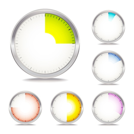 clock icon: timer collection Illustration