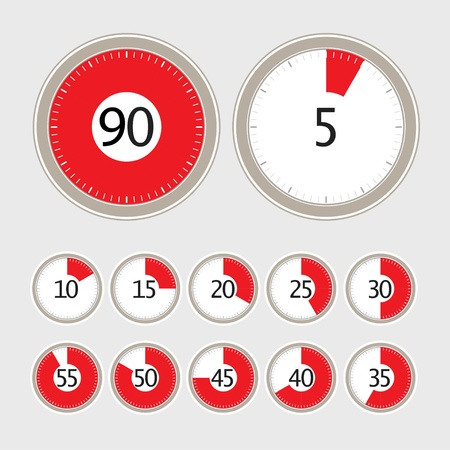 stop watch: timer collection Illustration