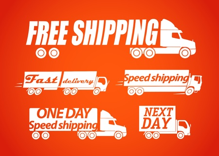 Delivery stickers Vector