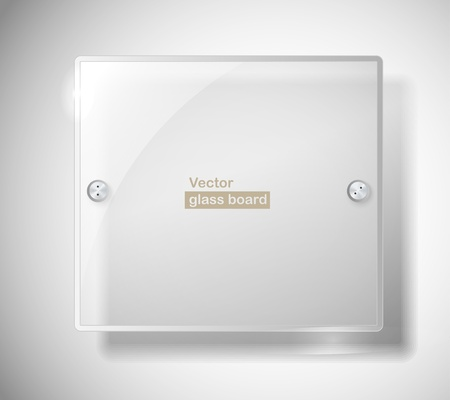 Square advertising glass board. Place your text on it Vector