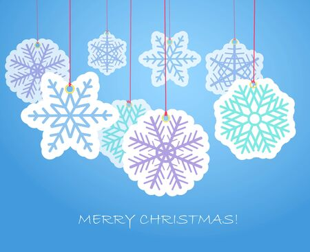 Christmas flakes background Vector