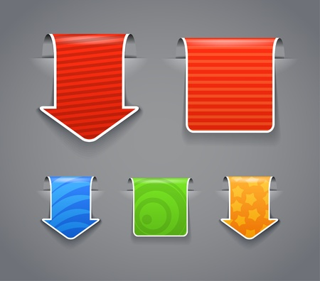 Patterned labels with white boarder clip-art. You can place your content on them Vector