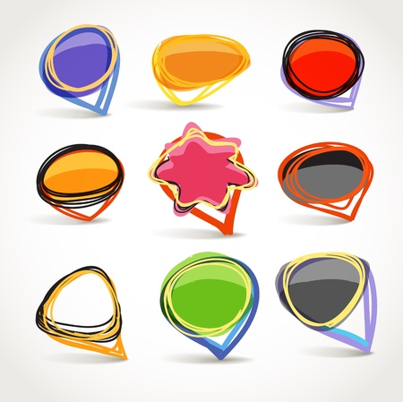 Abstract talking bubble set Vector
