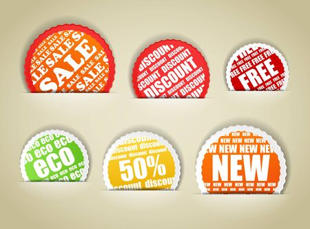 Shopping colorful discount labels collection Vector