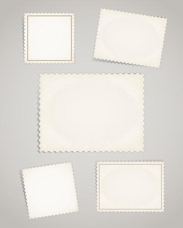 Vintage bài tem mẫu clip-art