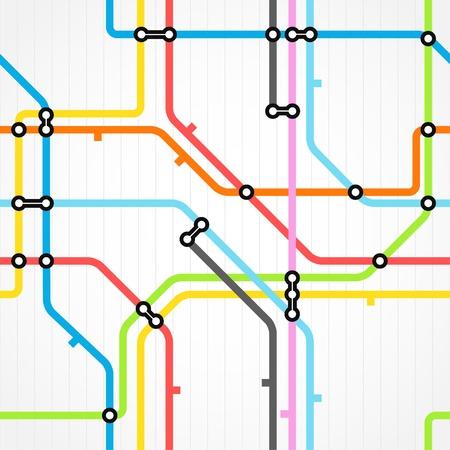 esquemas: De fondo sin fisuras del sistema de metro