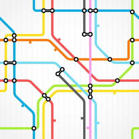 Seamless background of metro scheme Vector