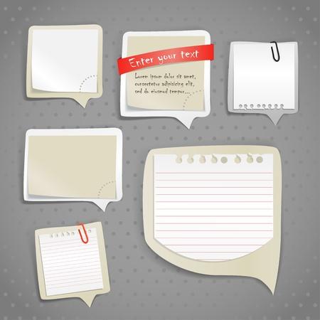 fournitures scolaires: Papier bulles de texte, clip-art