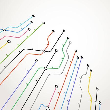 지도: 추상 지하철 체계의 배경