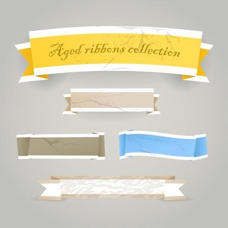 web side: Coloridos banners poligonal origami de la vendimia. Coloca el texto aqu�