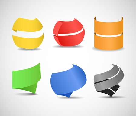 Paper ribbons set Vector