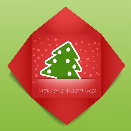 your text here: Color polygonal christmas greeting card. Place your text here