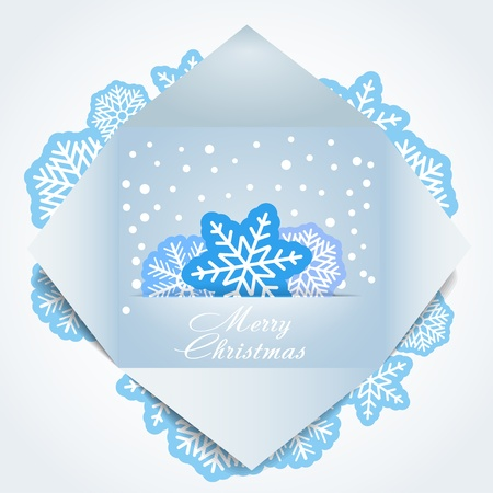 snoflake: Color polygonal christmas greeting card. Place your text here