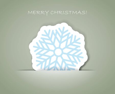 Christmas greeting card with paper flake in a pocket, Stock Vector - 11430980