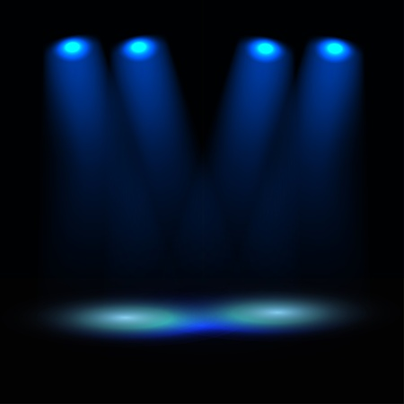 empty stage: Illuminated stage template