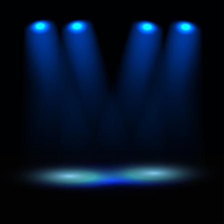 ray trace: Plantilla escenario iluminado