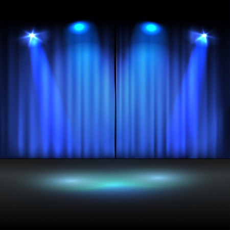 Illuminated stage template