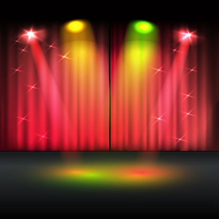 club scene: Illuminated stage template