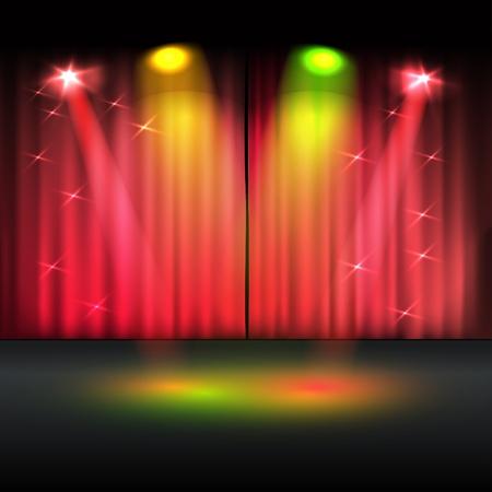 Plantilla escenario iluminado