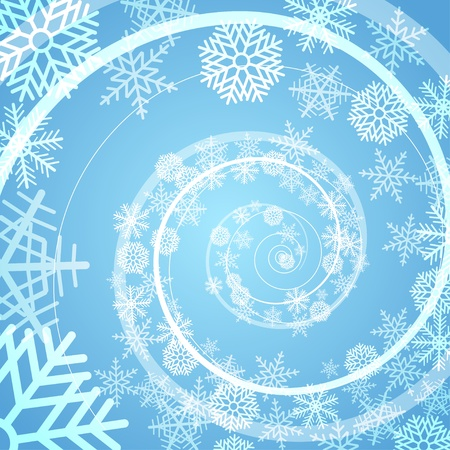 Winter snow storm spiral background Stock Vector - 11430953