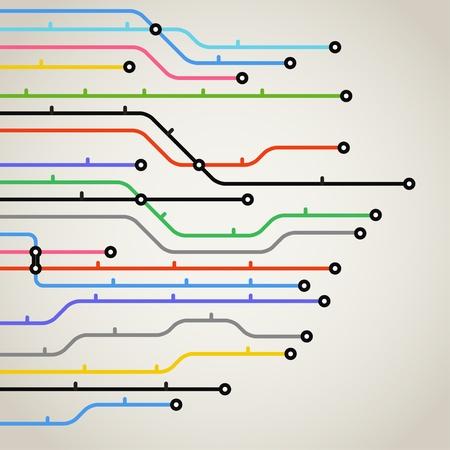 esquemas: Resumen de metro esquema de color de fondo