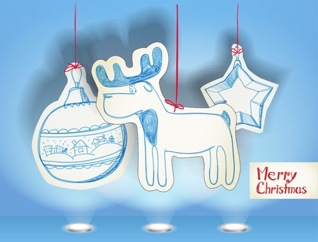Christmas illustration of christmas toys Vector