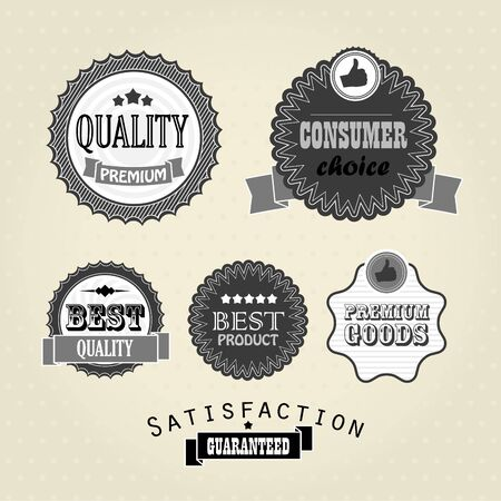 vintage labels, discount labels set Vector