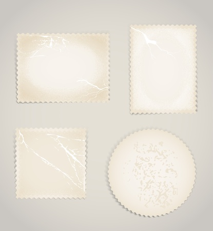 Vintage scratched post stamps template clip-art Stock Vector - 11430995