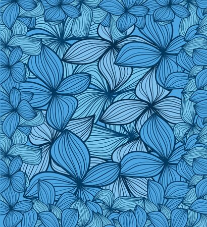 Blue leaves abstract background Vector