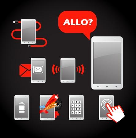 charge: Modern gadget icon set