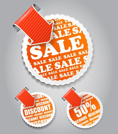 shopping labels: sale and discount  Vector