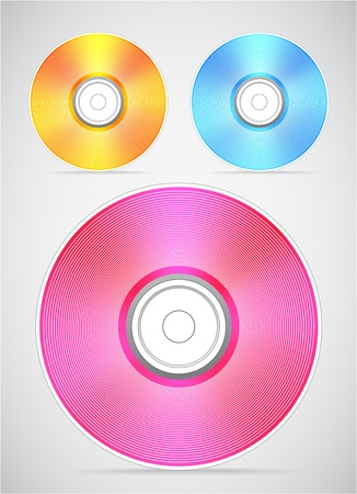 blu: Compact disc vector collection Illustration