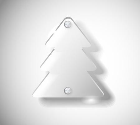 Glass Christmas tree Vector