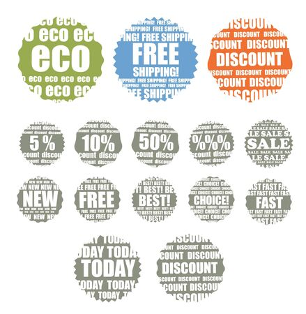 Shopping colorful labels collection Vector