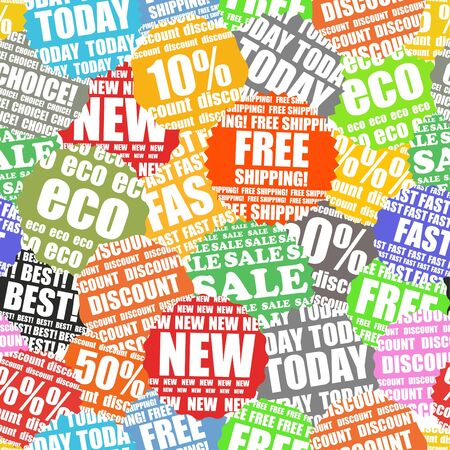 Shopping labels seamless background Stock Vector - 11595604