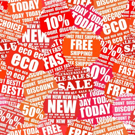 shopping chart: Shopping labels seamless background
