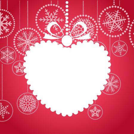 Red de felicitaci�n de Navidad con la tarjeta blanca de juguetes de Navidad. Feliz Navidad y Pr�spero A�o Nuevo Hapy, Foto de archivo - 11595627
