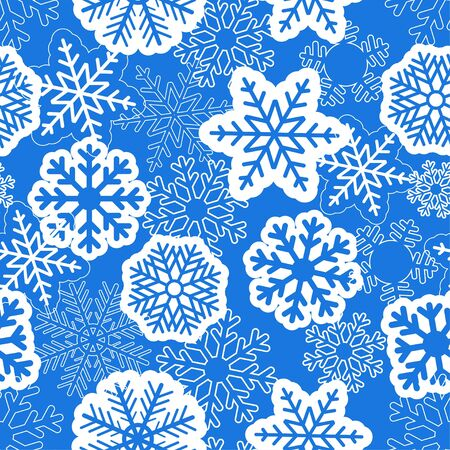 Blue seamless christmas background with snowflakes  Stock Vector - 11595623