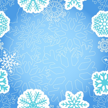 Blue Christmas greeting background Stock Vector - 11595619