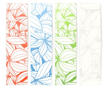 Set of vertical floral vector information banners. Ready for a text Vector