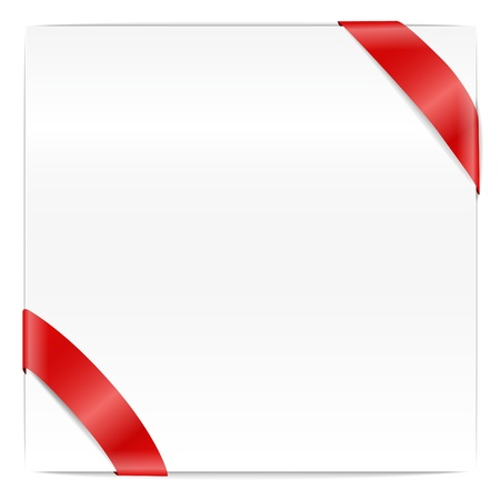 wright: Blank page with red ribbon Illustration