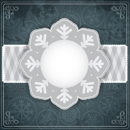 winter wish: Vintage silver background for a text