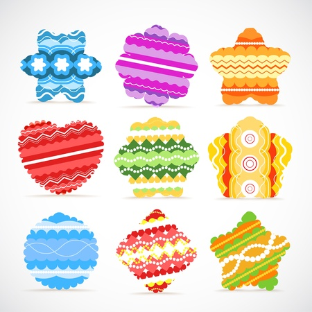Colorful Christmas baubles collection  Vector