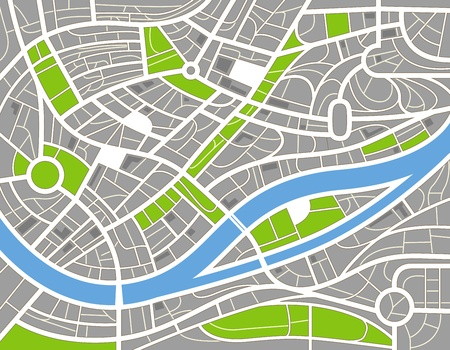 gps navigation: Resumen ilustraci�n mapa de la ciudad Vectores