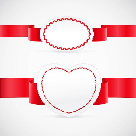 pleat: Valentine`s day greeting cards set Illustration