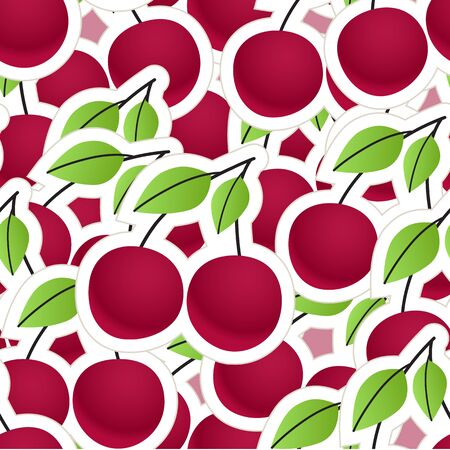 Cherry seamless background Vector