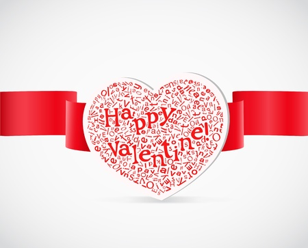 pleat:  Valentine`s day greeting card with letters