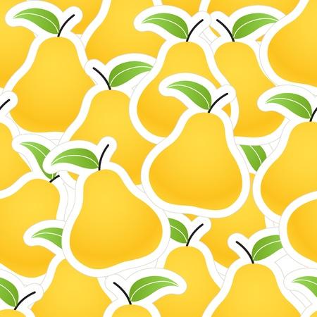 Orange pear seamless background Vector